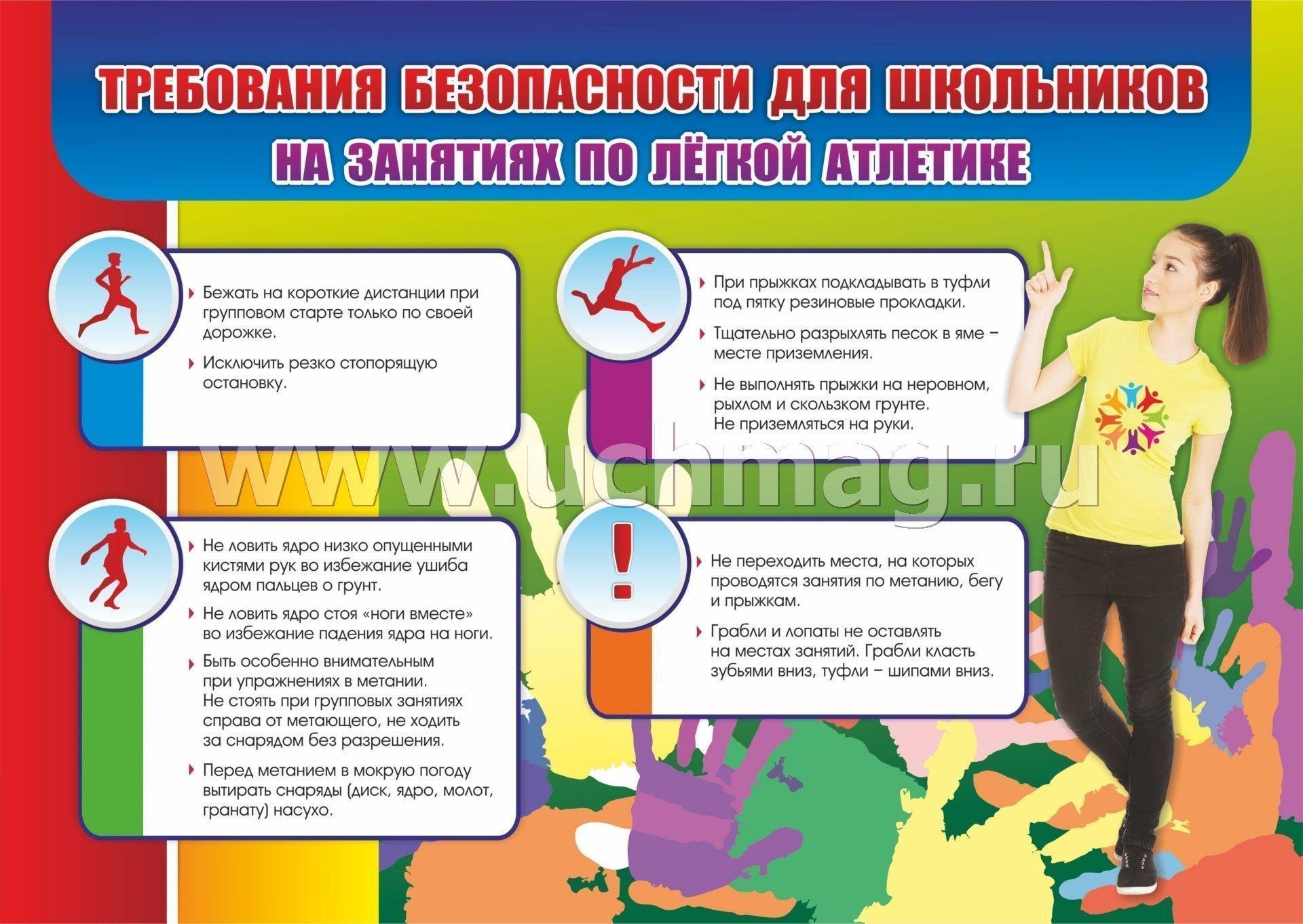 "Комплект плакатов ""Техника безопасности на уроках ..."
