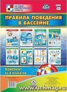 Правила поведения в бассейне: 8 плакатов А4