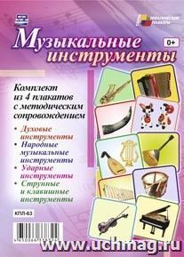 """Комплект плакатов """"Музыкальные инструменты"""": 4 плаката с методическим сопровождением"""