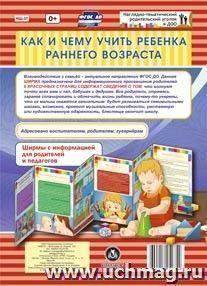 Как и чему учить ребенка раннего возраста. Ширмы с информацией для родителей и педагогов из 6 секций