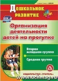 Организация деятельности детей на прогулке. Вторая младшая и средняя группы. Компакт-диск для компьютера